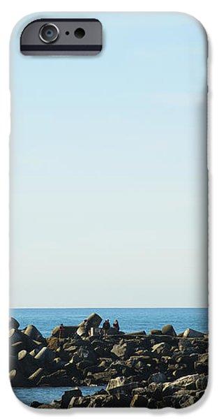 Santa Cruz California Lighthouse iPhone Case by Barbara Snyder