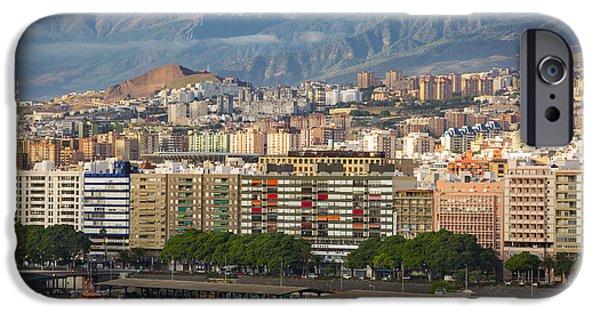 Santa Cruz Wharf iPhone Cases - Santa Cruz de Tenerife iPhone Case by Brian Jannsen