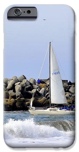 Santa Cruz Harbor iPhone Case by AJ  Schibig