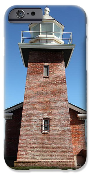 Santa Cruz Ca iPhone Cases - Santa Cruz Lighthouse Surfing Museum California 5D23944 iPhone Case by Wingsdomain Art and Photography