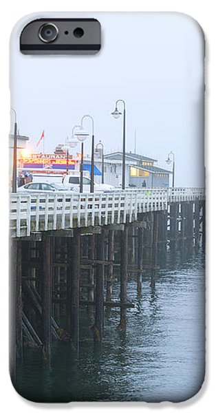 Santa Cruz Pier in the Fog iPhone Case by Artist and Photographer Laura Wrede