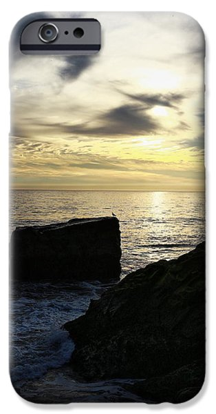 Steamer Lane iPhone Cases - Santa Cruz Sunset iPhone Case by Richard Cheski