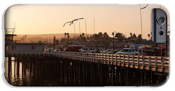 Santa Cruz Wharf iPhone Cases - Santa Cruz Wharf iPhone Case by Dashiell Corbett