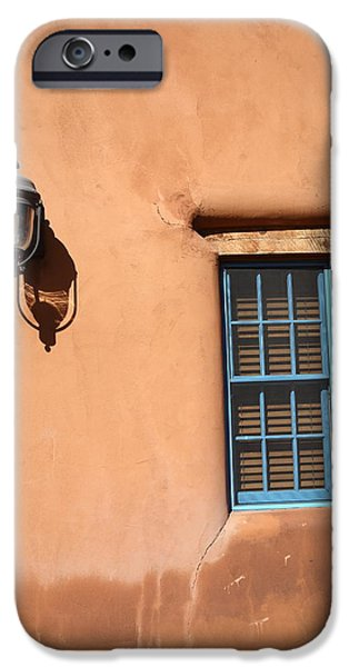 Small iPhone Cases - Santa Fe - Adobe Window and Light iPhone Case by Frank Romeo