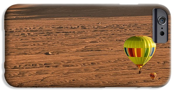 Hot Air Balloon iPhone Cases - Santa Fe Bound iPhone Case by Keith Berr