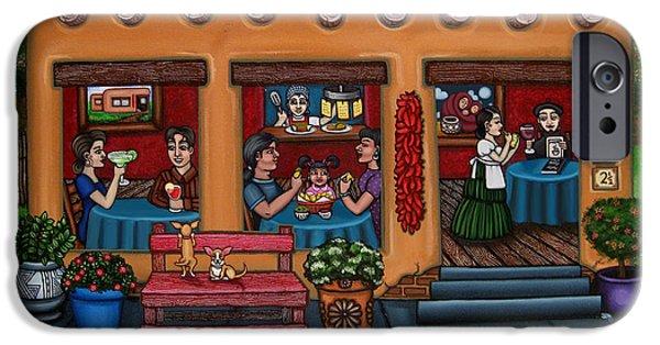 Diners iPhone Cases - Santa Fe Restaurant iPhone Case by Victoria De Almeida