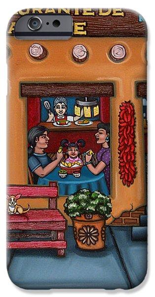 Santa Fe Restaurant iPhone Case by Victoria De Almeida