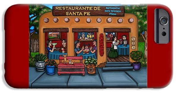 Best Sellers -  - Chip iPhone Cases - Santa Fe Restaurant iPhone Case by Victoria De Almeida