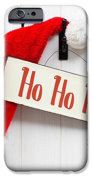 Santa Hat and Sign iPhone Case by Amanda And Christopher Elwell