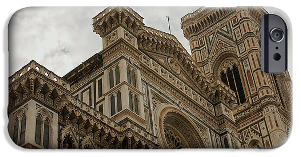 Santa iPhone Cases - Santa Maria del Fiore - Florence - Italy iPhone Case by Georgia Mizuleva