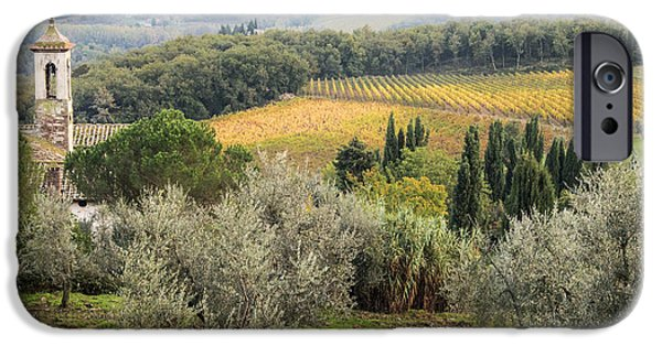 Chianti Landscape iPhone Cases - Santa Maria Novella iPhone Case by Eggers   Photography