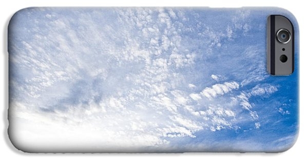 Santa Pyrography iPhone Cases - Santa Monica Clouds iPhone Case by Pobby Heglar