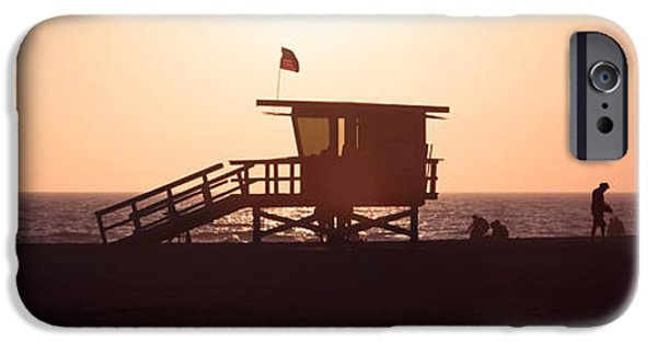 Santa iPhone Cases - Santa Monica Lifeguard Tower Panorama Photo iPhone Case by Paul Velgos
