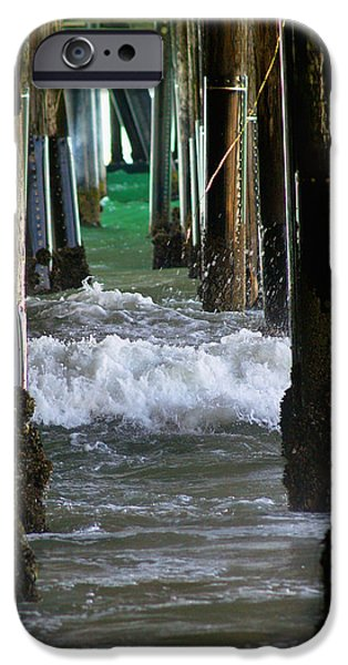Santa iPhone Cases - Santa Monica Pier iPhone Case by Bill Gallagher