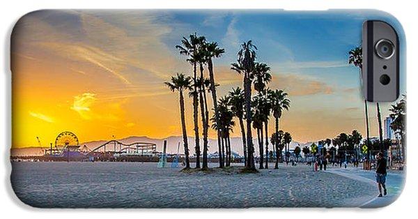 United iPhone Cases - Santa Monica Sunset iPhone Case by Az Jackson