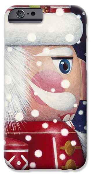 Santa iPhone Cases - Santa Nutcracker iPhone Case by Lynn Bywaters