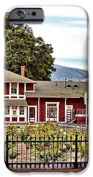 Santa Paula Train Station iPhone Case by Jason Abando