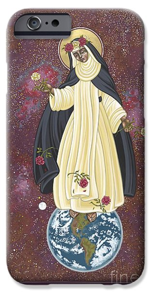 Harts iPhone Cases - Santa Rosa Patroness of the Americas 166 iPhone Case by William Hart McNichols