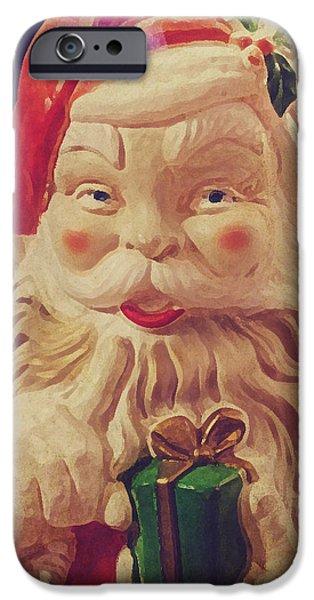 Santa Whispers vintage iPhone Case by Toni Hopper