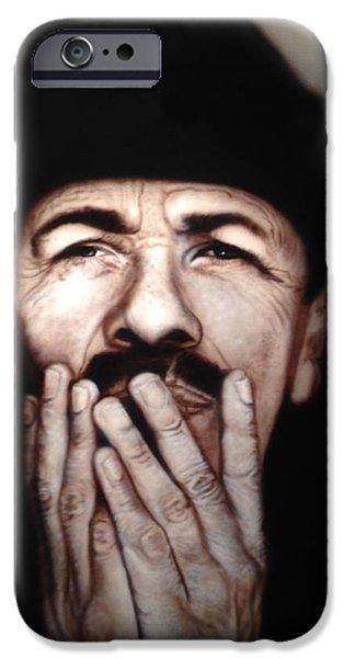Airbrush iPhone Cases - Santana iPhone Case by Grant Kosh