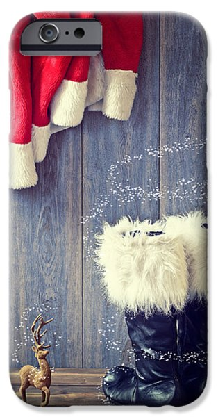 Santa iPhone Cases - Santas Boots iPhone Case by Amanda And Christopher Elwell