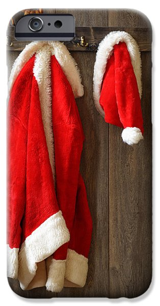 Ledge iPhone Cases - Santas Coat iPhone Case by Amanda And Christopher Elwell