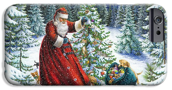 Santa iPhone Cases - Santas Little Helpers iPhone Case by Lynn Bywaters