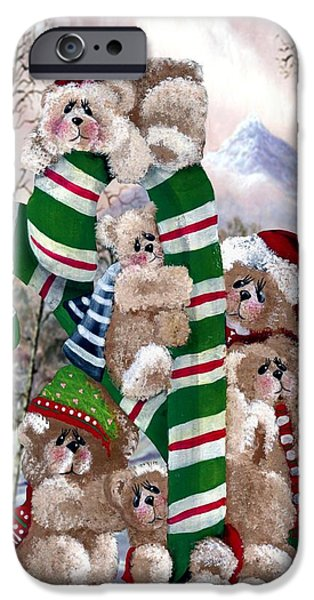 Cheer On iPhone Cases - Santas Little Helpers iPhone Case by R Chambers