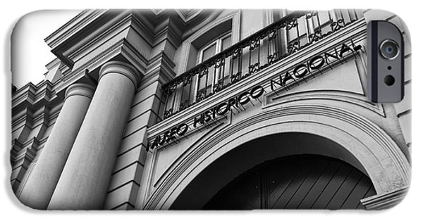 National Museum Of America History iPhone Cases - Santiago Museo Historico Nacional mono iPhone Case by John Rizzuto