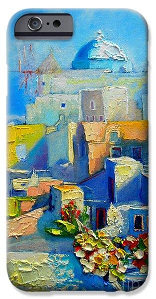 House iPhone Cases - Santorini Light iPhone Case by Ana Maria Edulescu