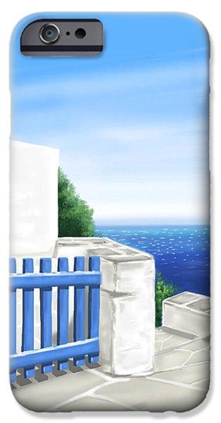 Islands iPhone Cases - Santorini iPhone Case by Veronica Minozzi