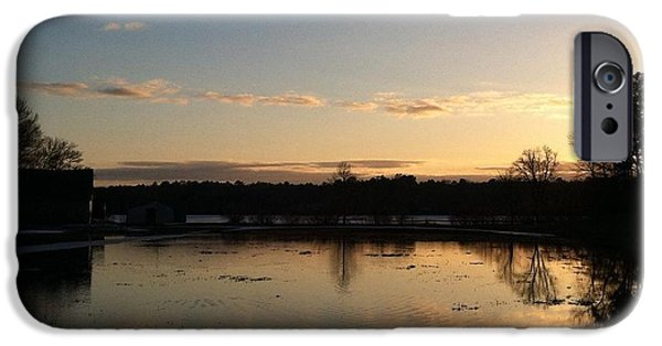 Mashpee iPhone Cases - Santuit Pond Dusk iPhone Case by Tricia Nilsson