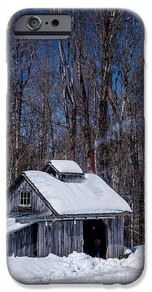 Winter In Maine iPhone Cases - Sap House II iPhone Case by Alana Ranney