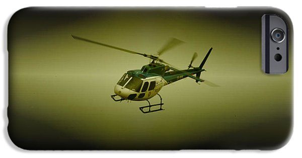 Police Art iPhone Cases - SAPS Air Wing iPhone Case by Paul Job