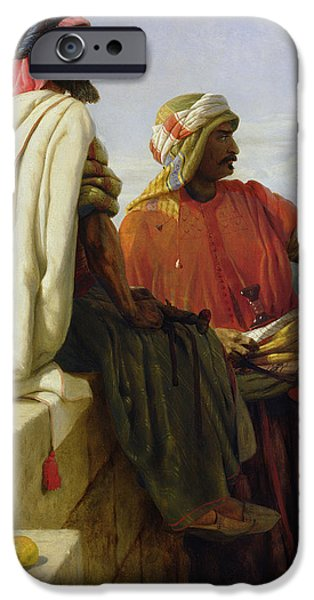 Islam Paintings iPhone Cases - Saracens in front of their Position iPhone Case by Wilfred Vincent Herbert