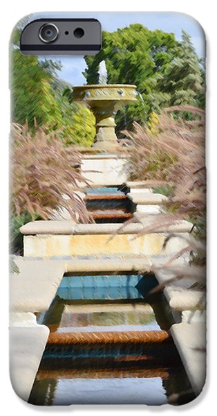 Garden Scene Paintings iPhone Cases - Sarah Lee Baker Perennial Garden 2 iPhone Case by Lanjee Chee