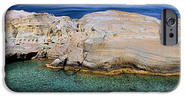 David iPhone Cases - Sarakiniko Beach in Milos Island Greece iPhone Case by David Smith