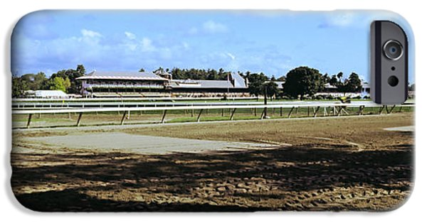 Racecourse iPhone Cases - Saratoga Racecourse At Saratoga iPhone Case by Panoramic Images
