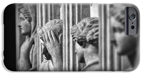 Greek Sculpture iPhone Cases - Sarcophagus of the Crying Women II iPhone Case by Taylan Soyturk