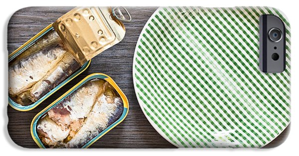Aluminum iPhone Cases - Sardines iPhone Case by Tom Gowanlock