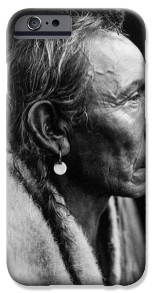 Portrait Of Old Man iPhone Cases - Sarsi Indian Man circa 1927 iPhone Case by Aged Pixel