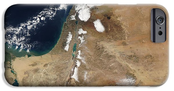 Winter Storm iPhone Cases - Satellite View Of A Rare Winter Storm iPhone Case by Stocktrek Images