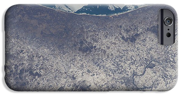 Indiana Landscapes iPhone Cases - Satellite View Of South Bend, Indiana iPhone Case by Stocktrek Images