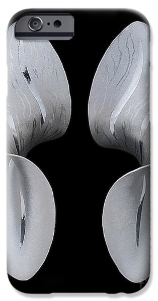 Stripes Jewelry iPhone Cases - Satin Curve iPhone Case by Loretta Tryon