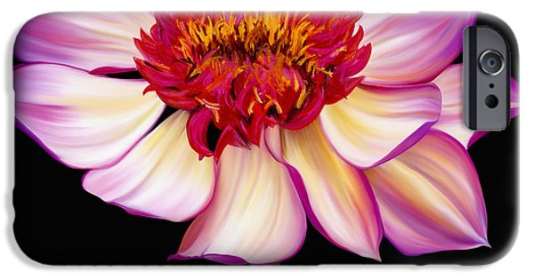 Plant Pastels iPhone Cases - Satin Flames iPhone Case by Laura Bell