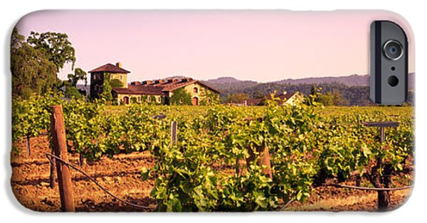 Winery Photography iPhone Cases - Sattui Winery, Napa Valley, California iPhone Case by Panoramic Images