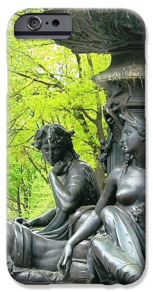 Ann Johndro-collins iPhone Cases - Saturday Afternoon In The Park II iPhone Case by Ann Johndro-Collins