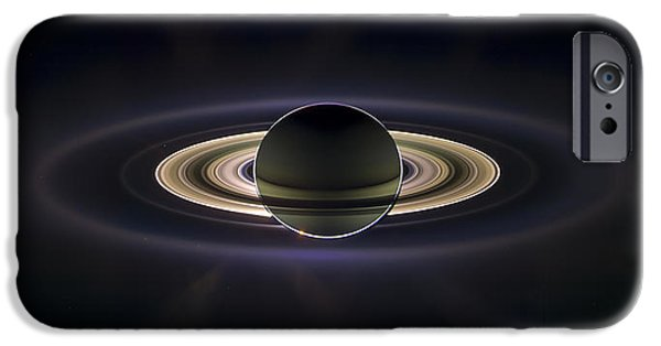 Spacecraft iPhone Cases - Saturn iPhone Case by Adam Romanowicz