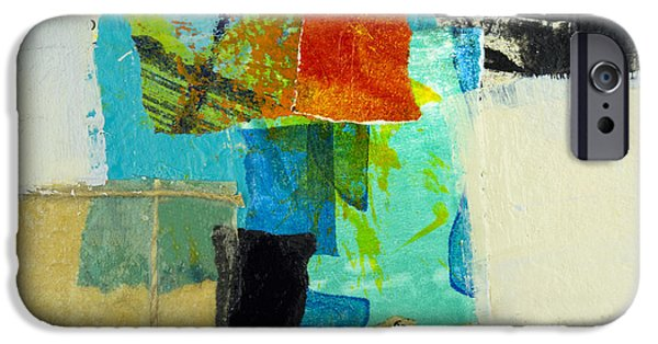 Abstract Expressionist Mixed Media iPhone Cases - Saturn iPhone Case by Elena Nosyreva