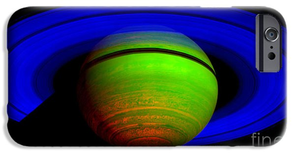 Stellar iPhone Cases - Saturn in Color iPhone Case by Paul Ward